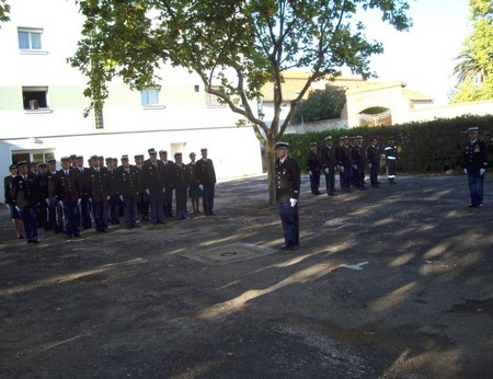 Le Capitaine Alban Mornet prend officiellement le commandement de ses 123 effectifs.