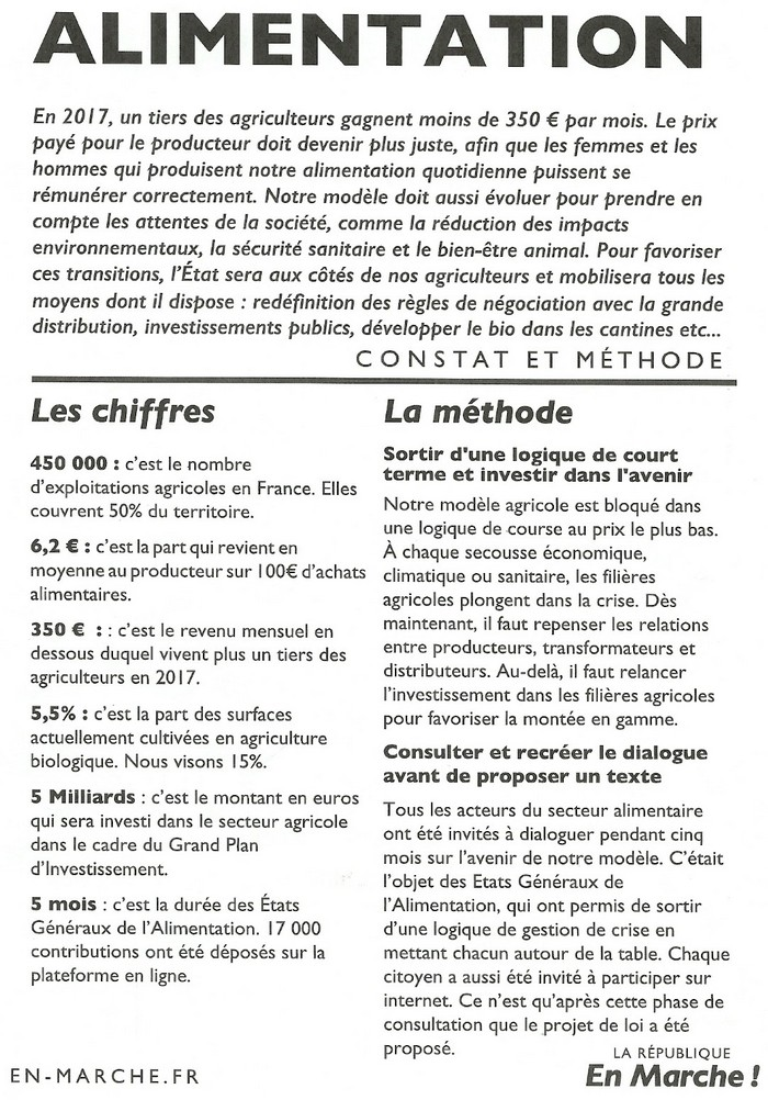 TRACTS LREM OCTOBRE 2018 - Alimentation page 01