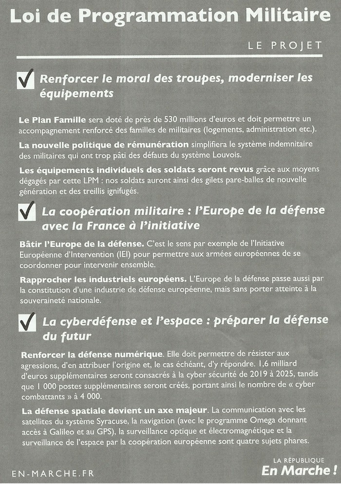 TRACTS LREM OCTOBRE 2018 - Programmation Militaire page 02